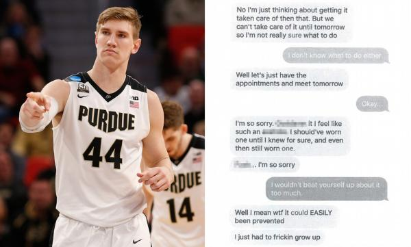 Ex-girlfriend of Purdue basketball star files suit claiming he gave her  chlamydia and herpes | Daily Mail Online