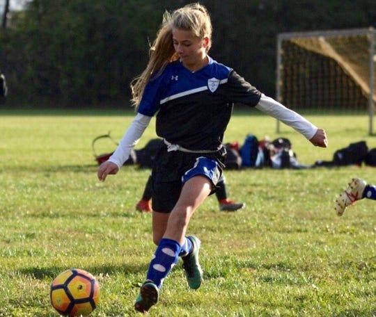 Lexi Watkins, 13, started playing soccer when she was 4. Coaches immediately noticed her passion for the sport.